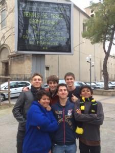 Nîmes 2015. Rémi, Lucas, Clément, Aimée, Karl, Noah